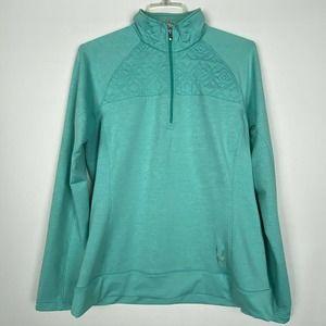 SPYDER Pullover Jacket 14 Aqua Quarter Zip Quilted